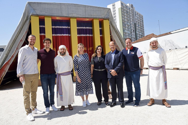 Kaká, ex-jogador de futebol, participa do Tour no Templo de Salomão