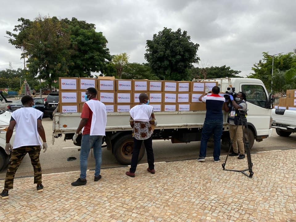 Coronavírus: famílias na Angola recebem doações de cestas básicas