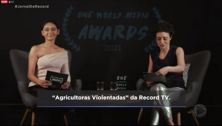 Record TV conquista prêmio internacional com documentário sobre violência contra as mulheres no campo