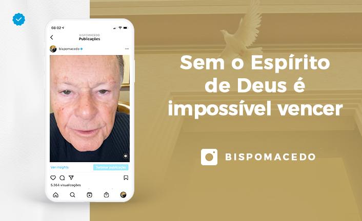 Sem o Espírito de Deus é impossível vencer