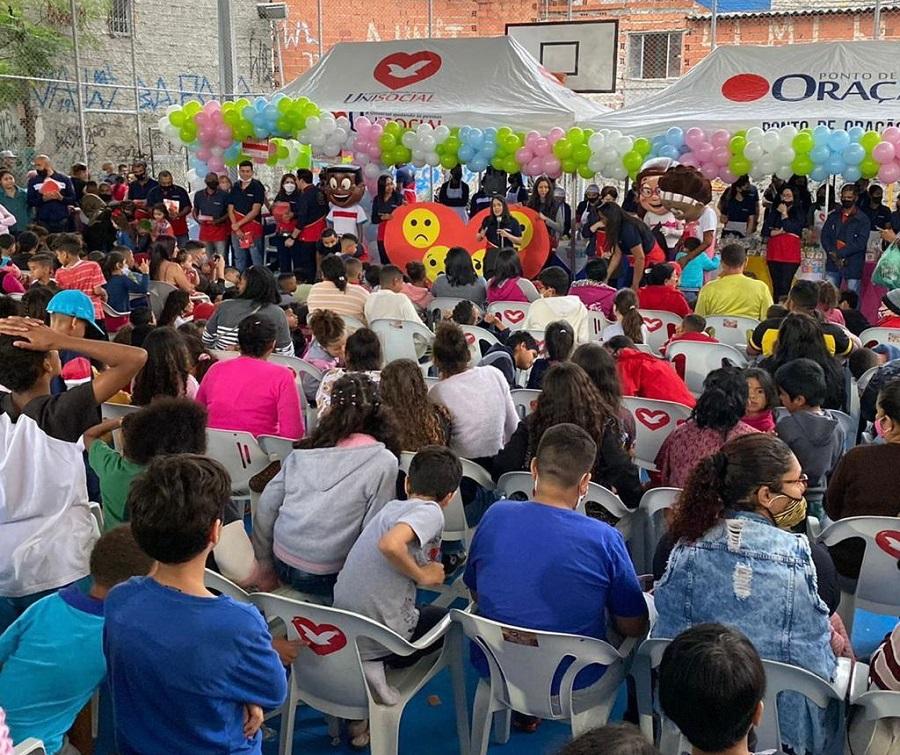 UniSocial kids marca o dia das crianças de centenas de famílias